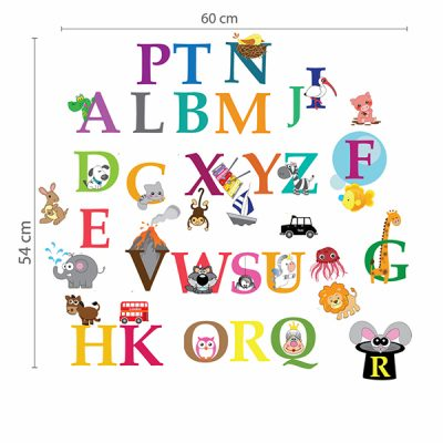 Zoo Animal Alphabet Wall Sticker_2