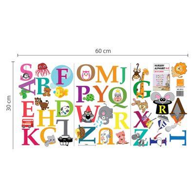 Zoo Animal Alphabet Wall Sticker_3