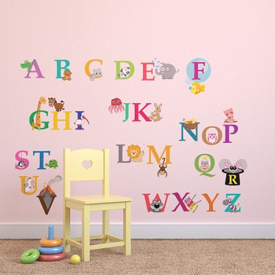 Zoo Animal Alphabet Wall Sticker_1