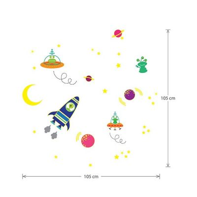 Glowing Space Wall Sticker_3