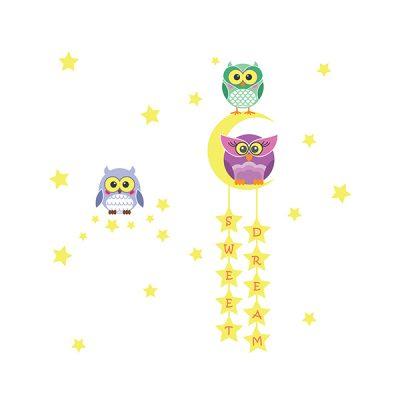 Owl Moon Stars Wall Sticker_4