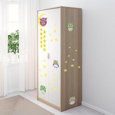 Owl Moon Stars Wall Sticker_3