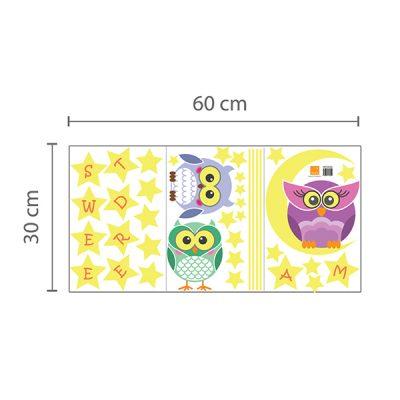 Owl Moon Stars Wall Sticker_5