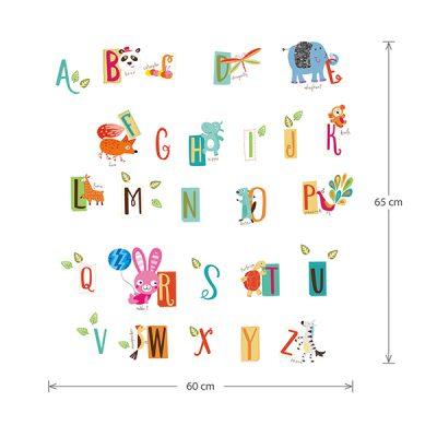 Educational Animal Alphabet Wall Sticker_7