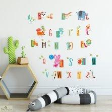 Educational Animal Alphabet Wall Sticker