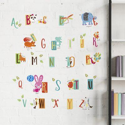Educational Animal Alphabet Wall Sticker_2