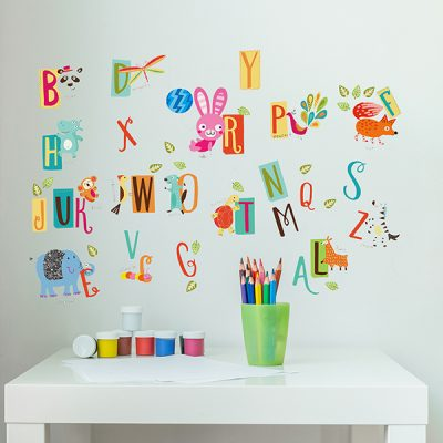 Educational Animal Alphabet Wall Sticker_3