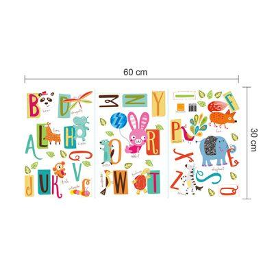 Educational Animal Alphabet Wall Sticker_8