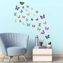 28 Butterflies Wall Sticker
