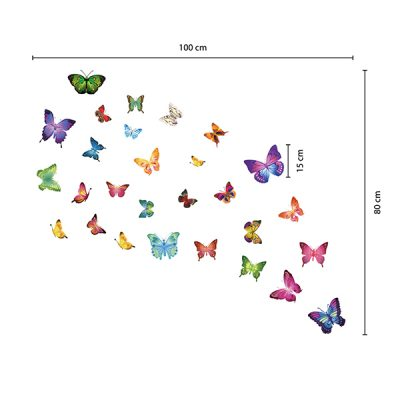 28 Butterflies Wall Sticker_4