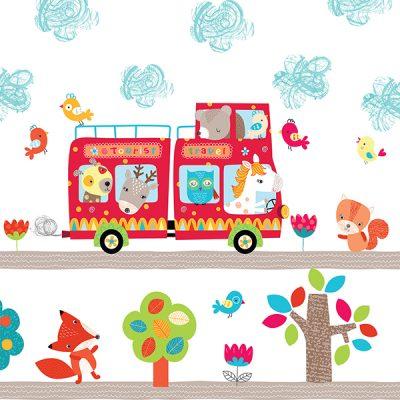 Animal Bus Wall Sticker_2