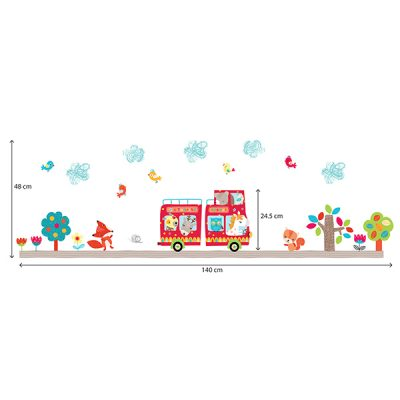 Animal Bus Wall Sticker_3