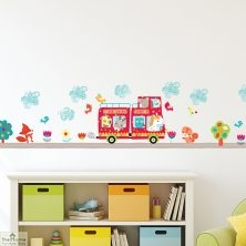 Animal Bus Wall Sticker