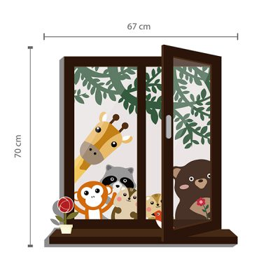 Animal Friends Window Wall Sticker_3