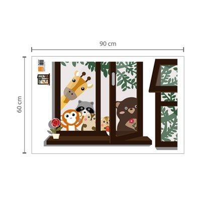 Animal Friends Window Wall Sticker_2
