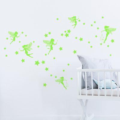 Glowing Stars Fairies Wall Sticker_4