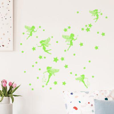 Glowing Stars Fairies Wall Sticker_2