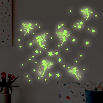 Glowing Stars Fairies Wall Sticker_1