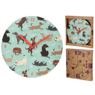 Dog Print Wall Clock_1