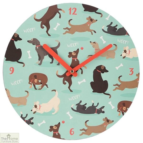 Dog Print Wall Clock