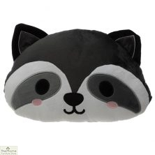 Raccoon Plush Cushion