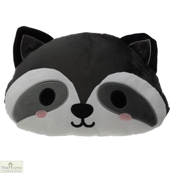 Raccoon Plush Cushion