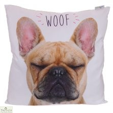 French Bulldog Print Square Cushion