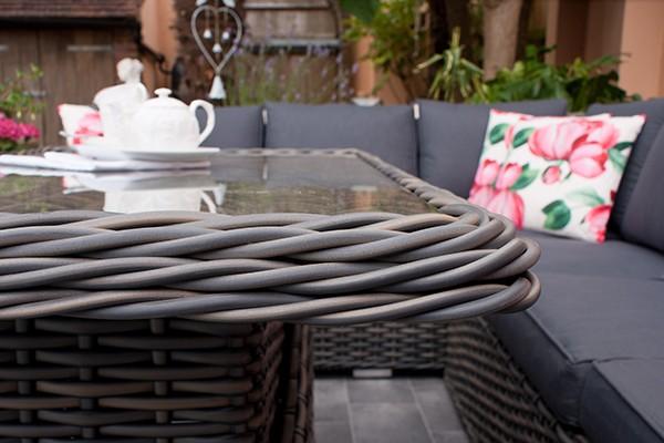 Grey Table Rattan Weave
