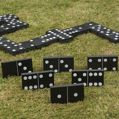 Jumbo Black and White Dominoes_3