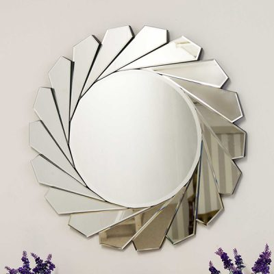 All Glass Round Wall Mirror_3