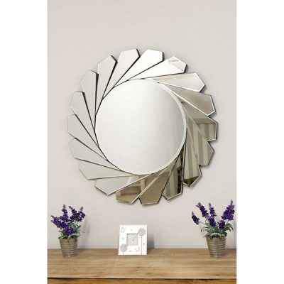 All Glass Round Wall Mirror_1