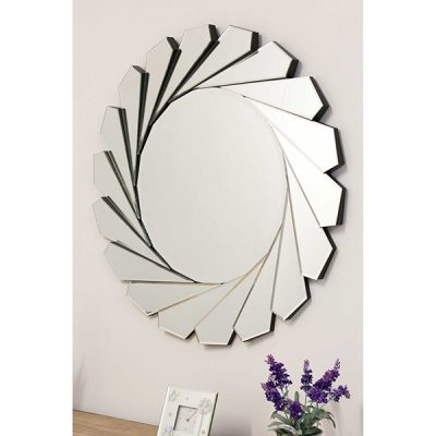 All Glass Round Wall Mirror_2