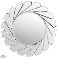 All Glass Round Wall Mirror 80cm