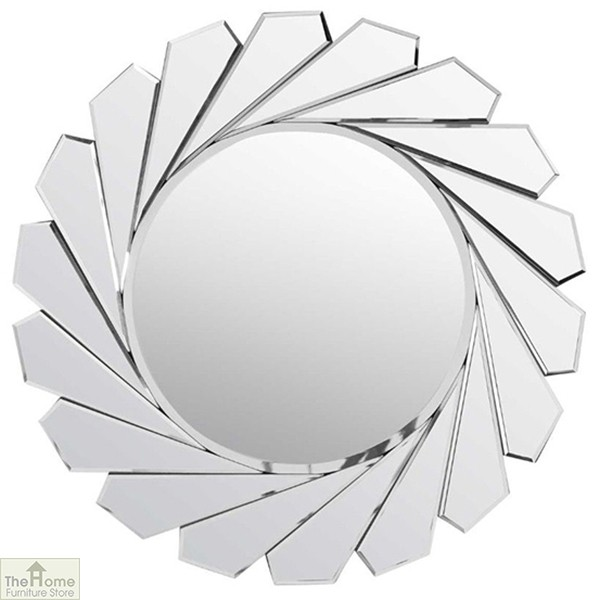 All Glass Round Wall Mirror