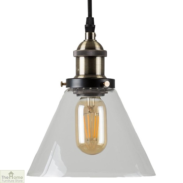 Antique Gold Conical Pendant Light