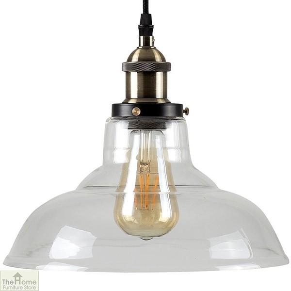 Antique Gold Bell Pendant Light