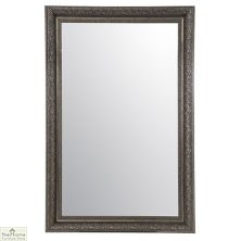 Large Antique Silver Mirror 178 x 117cm