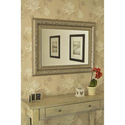 Medium Antique Silver Mirror_2
