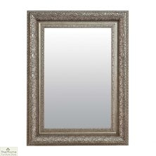 Medium Antique Silver Mirror 102 x 76cm