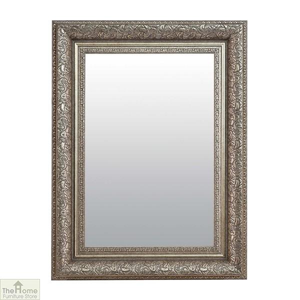 Medium Antique Silver Mirror