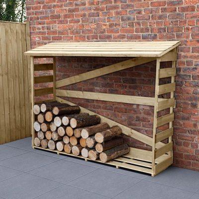 Large Slatted Log Store_1