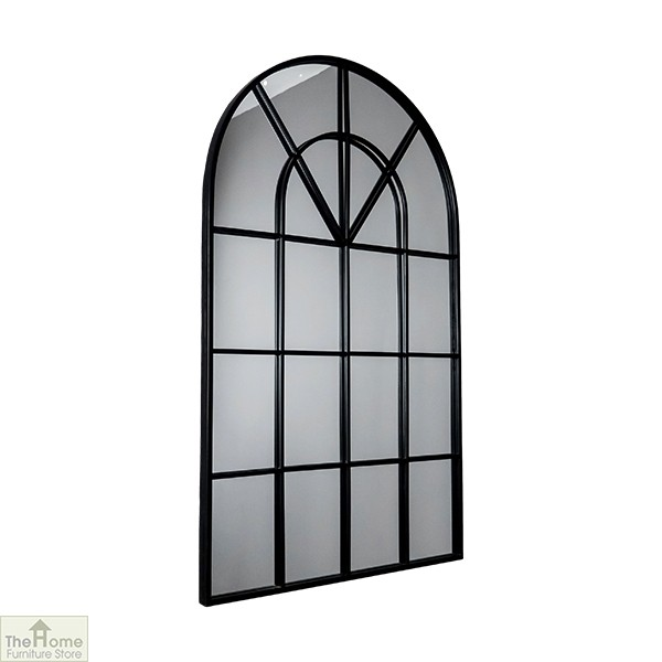 Black Arched Window Mirror