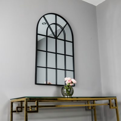 Black Arched Window Mirror_1