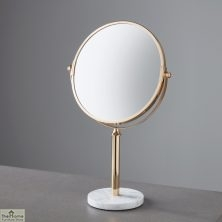 Marble Base Gold Round Mirror