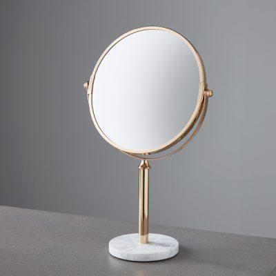 Marble Base Gold Round Mirror_1
