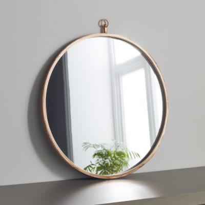 Copper Round Mirror_1