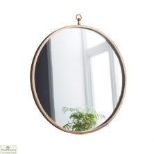 Copper Round Mirror