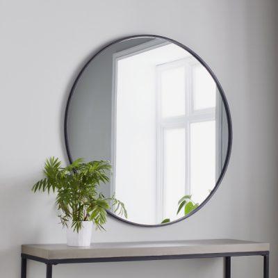 Manhattan Large Black Round Mirror_1