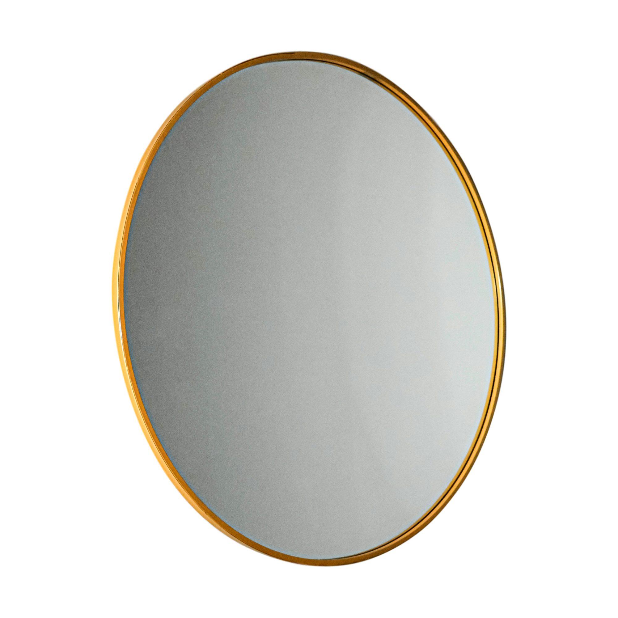 Manhattan Large Gold Round Mirror