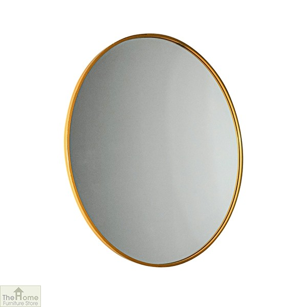 Manhattan Medium Gold Round Mirror